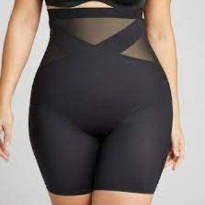 Cacique Black Plus High Waist Thigh Shaper NWT